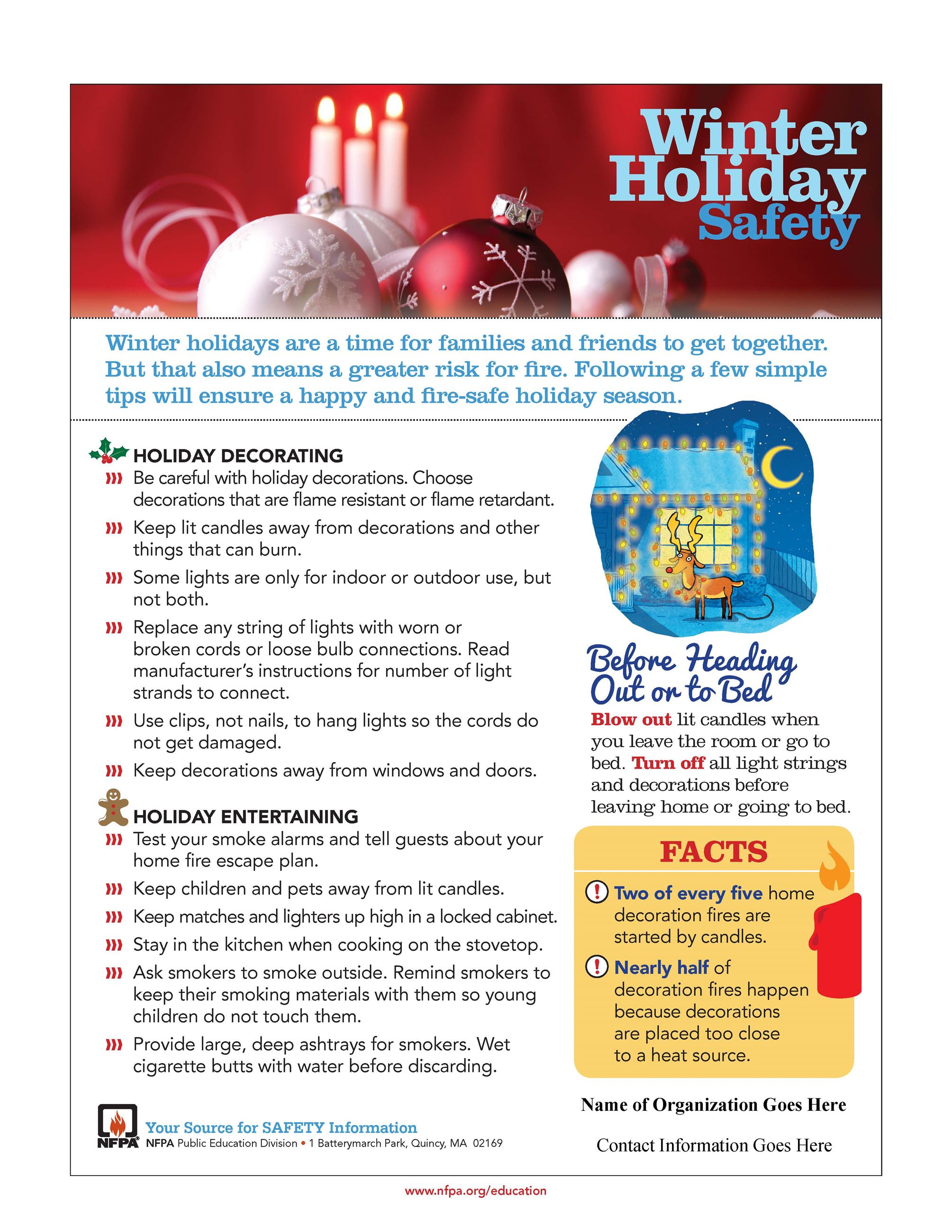 Winter Holiday Safety Flyer