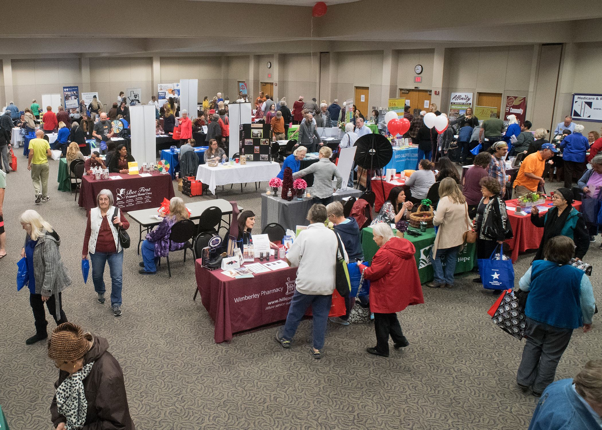 Photo of vendors and attendees from the 2018 Senior Citizen Expo