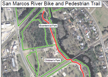 River and Bike Path Map