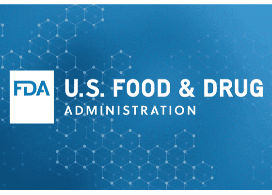 FDA Logo (white on blue background)
