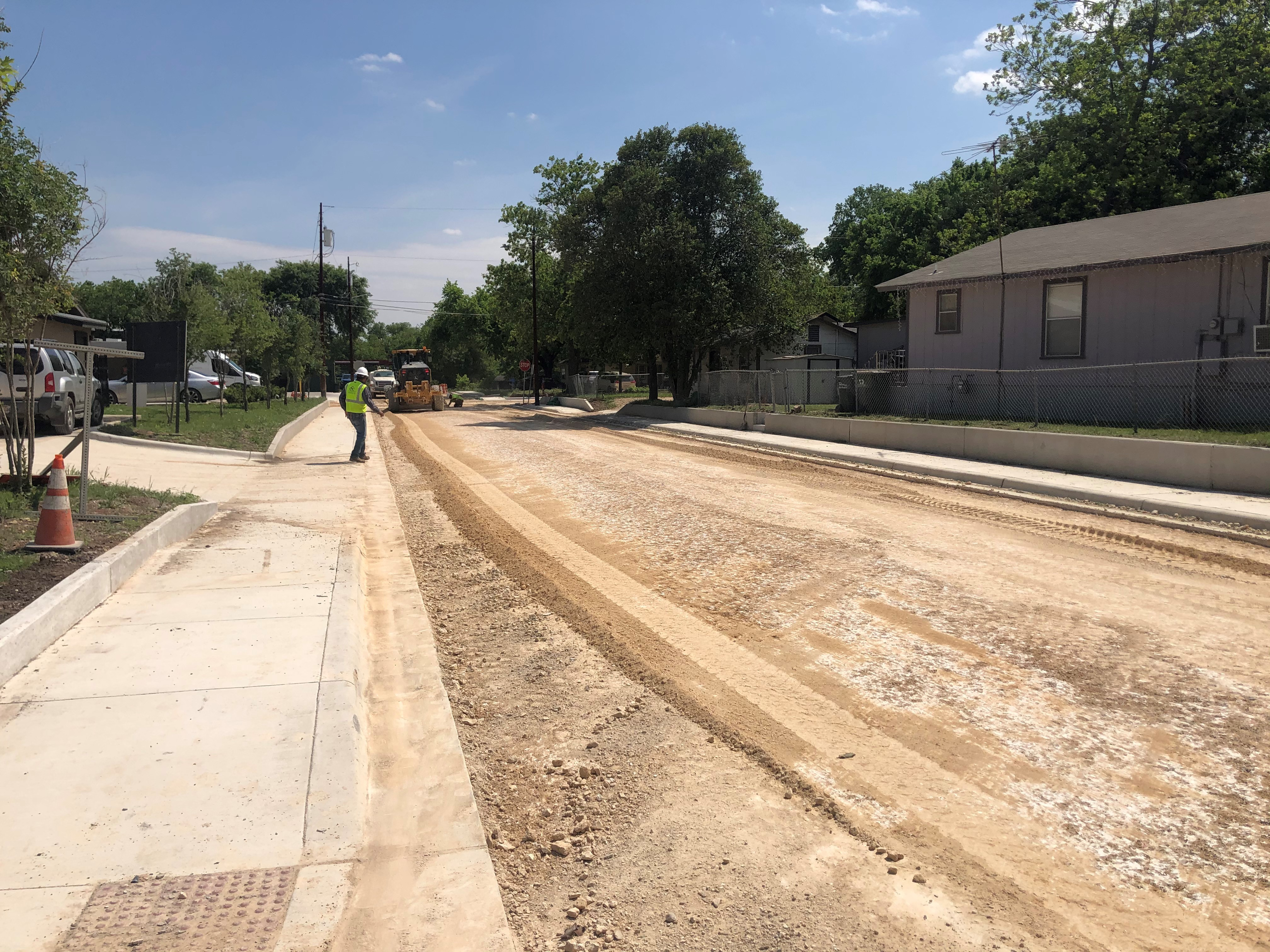 April road work in Victory Gardens