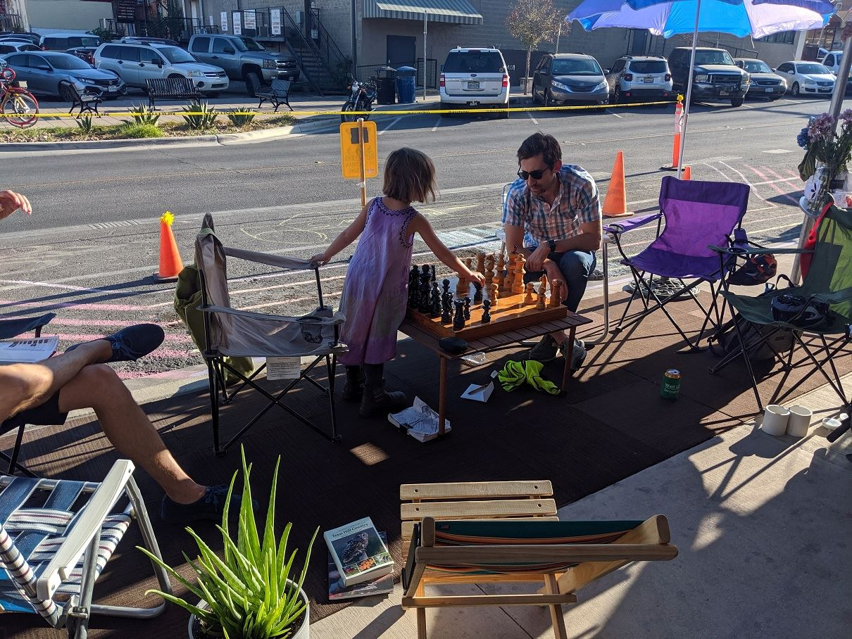 Move SM Parklet Installation - park(ing) day 2019