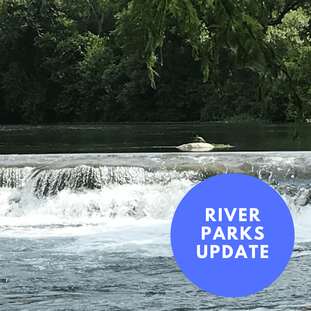 river parks update with image of the San Marcos River