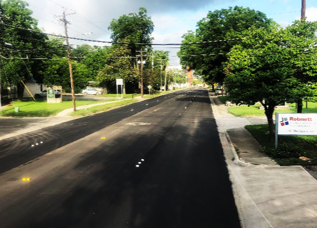 Cheatham Street after overlay project.