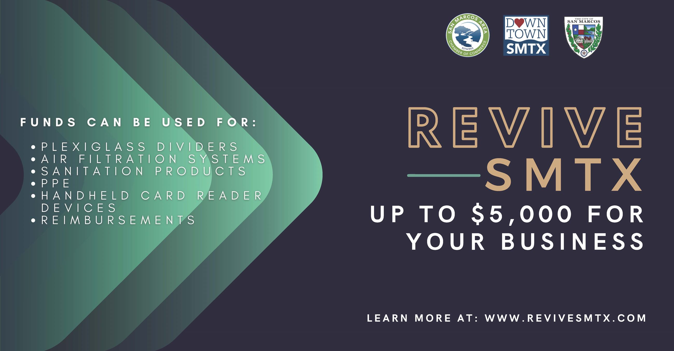 Revive SMTX UP TO $5,000 for your business AD