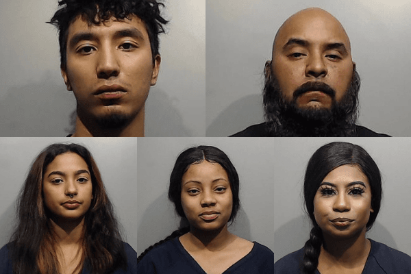 Mugshots of 5 Arrests