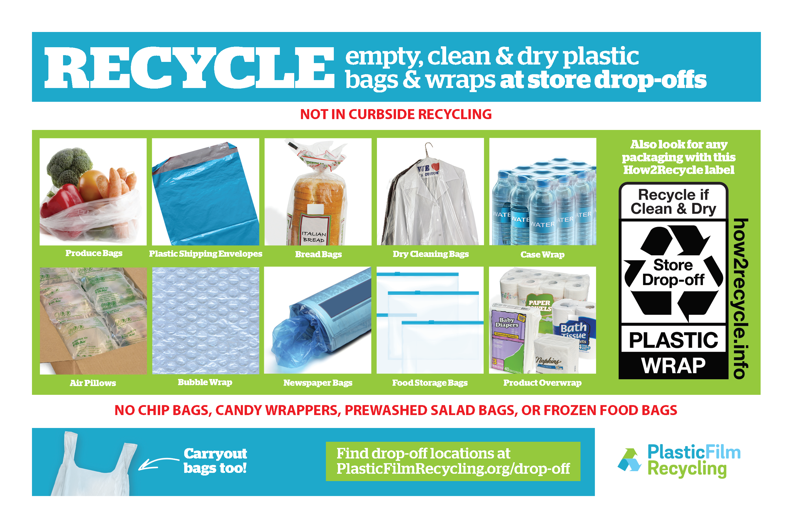 Plastic Film Recycling Tip Card (English)