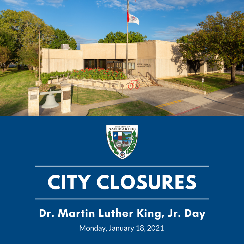 City Hall Closure MLK Jan 18