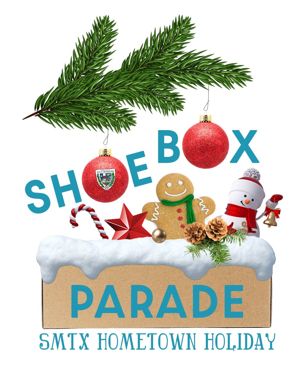 shoebox parade logo with branch