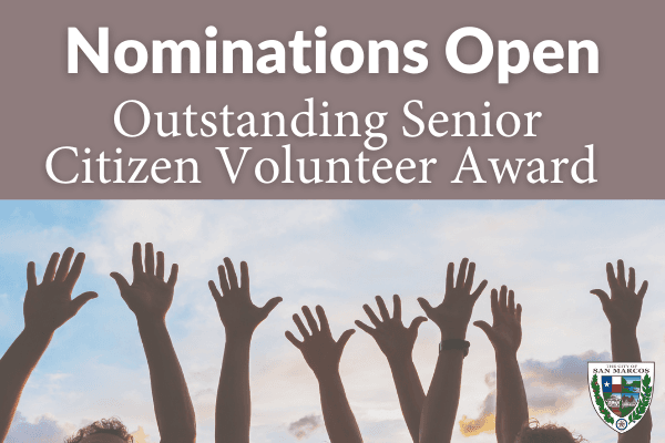 Nominations Open for Outstanding Senior Citizen Award